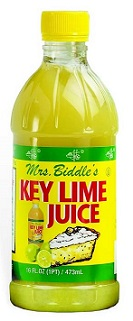 Key Lime Juice - 16 oz Mrs Biddles